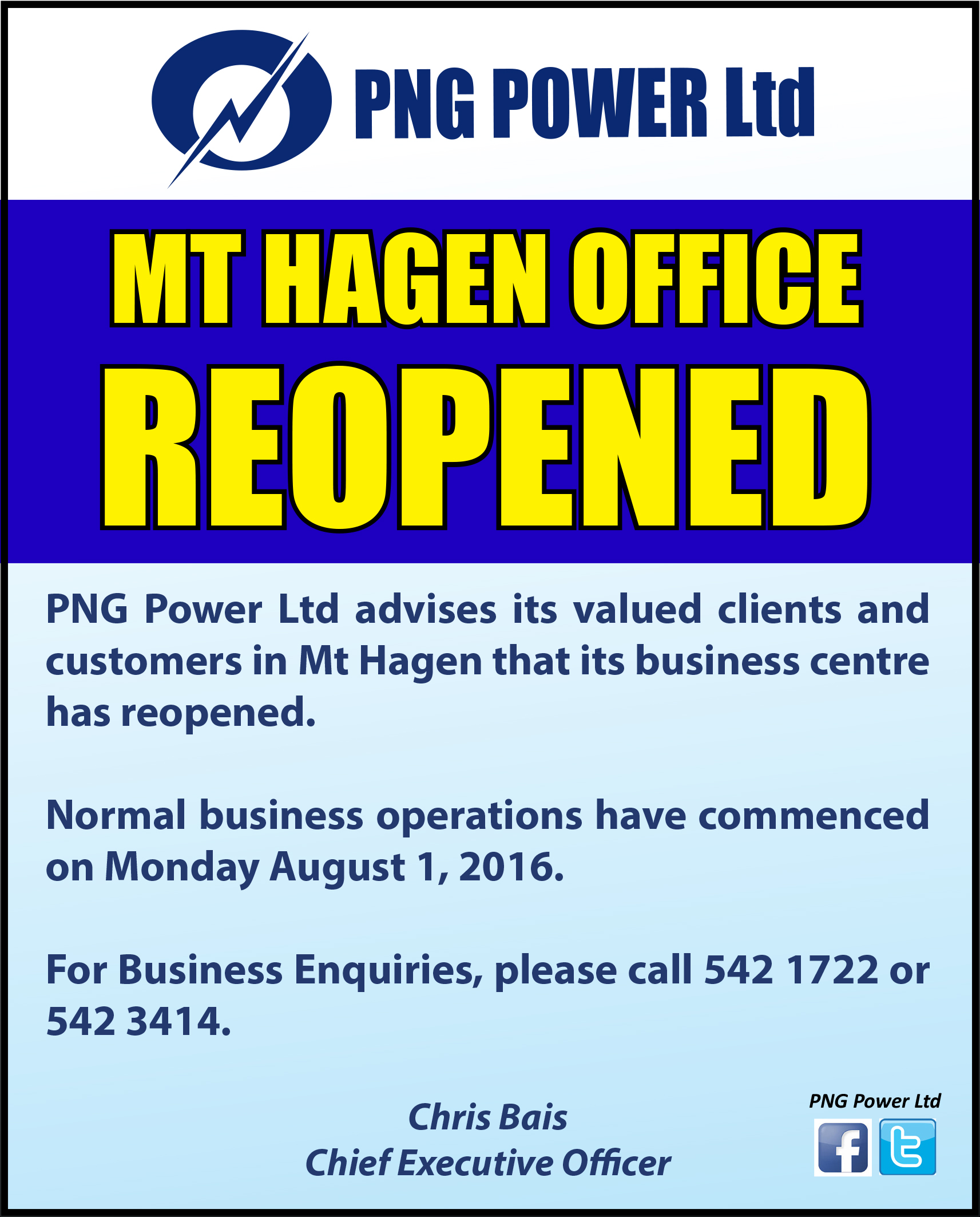 Mt Hagen business centre reopened