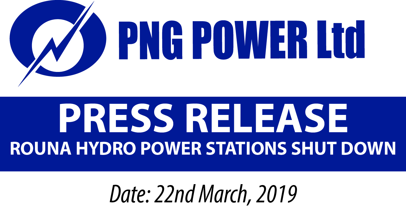 PRESS RELEASE ROUNA HYDRO POWER STATIONS SHUT DOWN